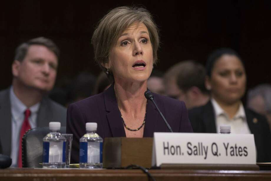 Sally Yates testifies at a Senate Judiciary subcommittee hearing on alleged Russian interference in the 2016 presidential election. A reader says Republican officials focused on side issues instead of trying to determine the extent of Russian meddling. Photo: STEPHEN CROWLEY /NYT / NYTNS