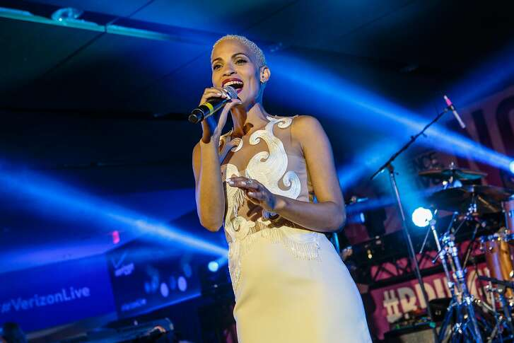 NEW ORLEANS, LA - JULY 03: Goapele performs onstage during the 2015 Essence Music Festival on July 3, 2015 in New Orleans, Louisiana.