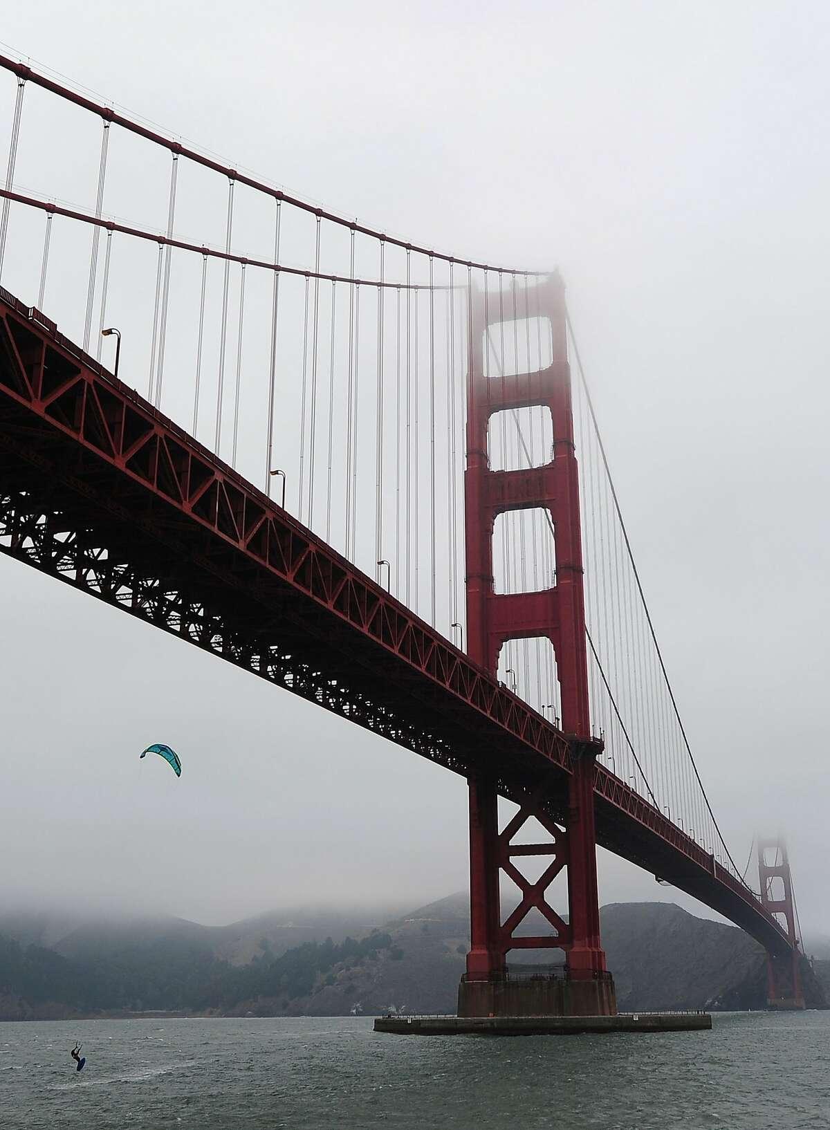 The Golden Gate Bridge, site of the stunt.