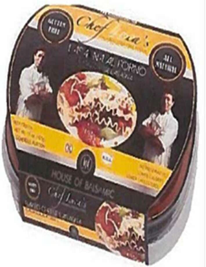 "Italian Gluten Free Food CL is recalling its 15-ounce packages of ""Chef Luca's LASAGNA AL FORNO BAKED CHEESE LASAGNA"" food because they may contain undeclared egg. Photo courtesy of the U.S. Food and Drug Administration. Photo: Contributed / Contributed"