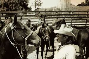 Bob Kleberg Jr. had a way with horses, including these mares, circa 1941.