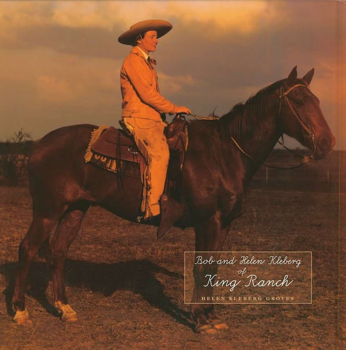 Helen C. Kleberg of the King Ranch sits astride her horse on the cover of the new book