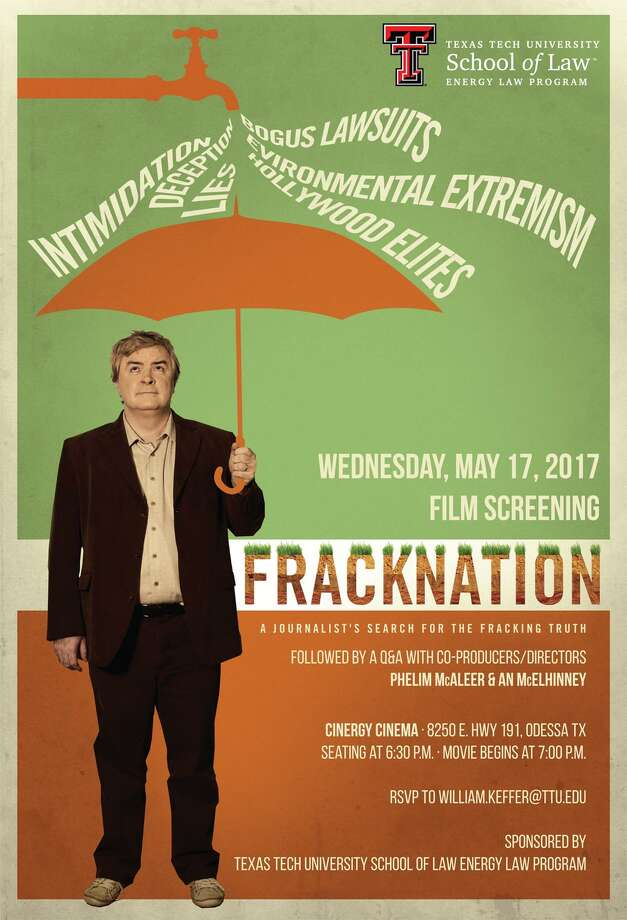 "The documentary ""FrackNation"" will screen at Cinergy Cinemas in Odessa on Wednesday, May 17, 2017.  Photo: Contributed Photo"