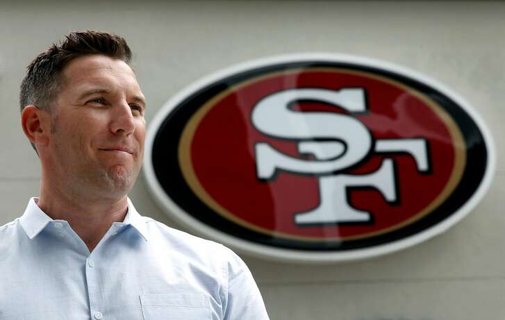 Adam Peters, the San Francisco 49ers vice president of player personnel, is seen at the team's practice facility in Santa Clara, Calif. on Tuesday, May 16, 2017.