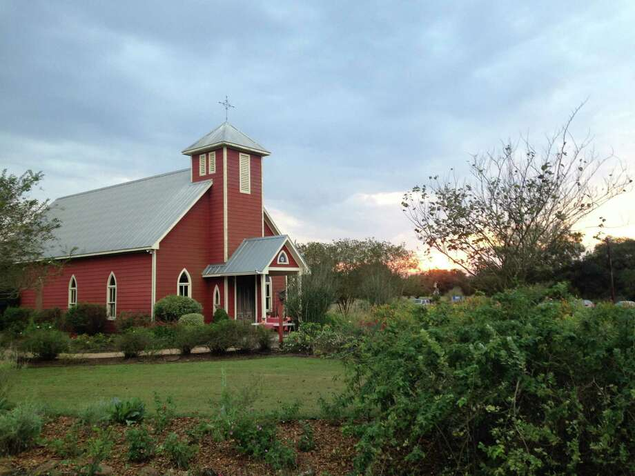 The quaint chapel at the Antique Rose Emporium in Independence, near Brenham. Photo: Molly Glentzer