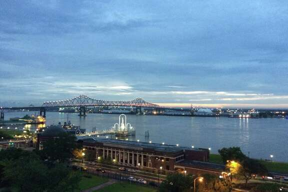 Downtown Baton Rouge sits on the banks of the Mississippi River.