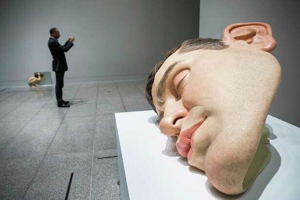 """Ron Mueck's """"Mask II"""" is on view at the Museum of Fine Arts, Houston."""