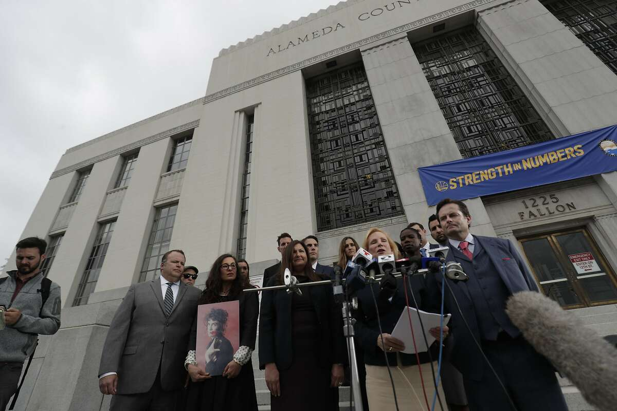 1SF Attorney Mary Alexander represents the families of ten victims who died due to the fire along with five other law firms hold a pressconferenc on Tuesday, May 16, 2017 in Oakland, CA at the Alameda County Courthouse.