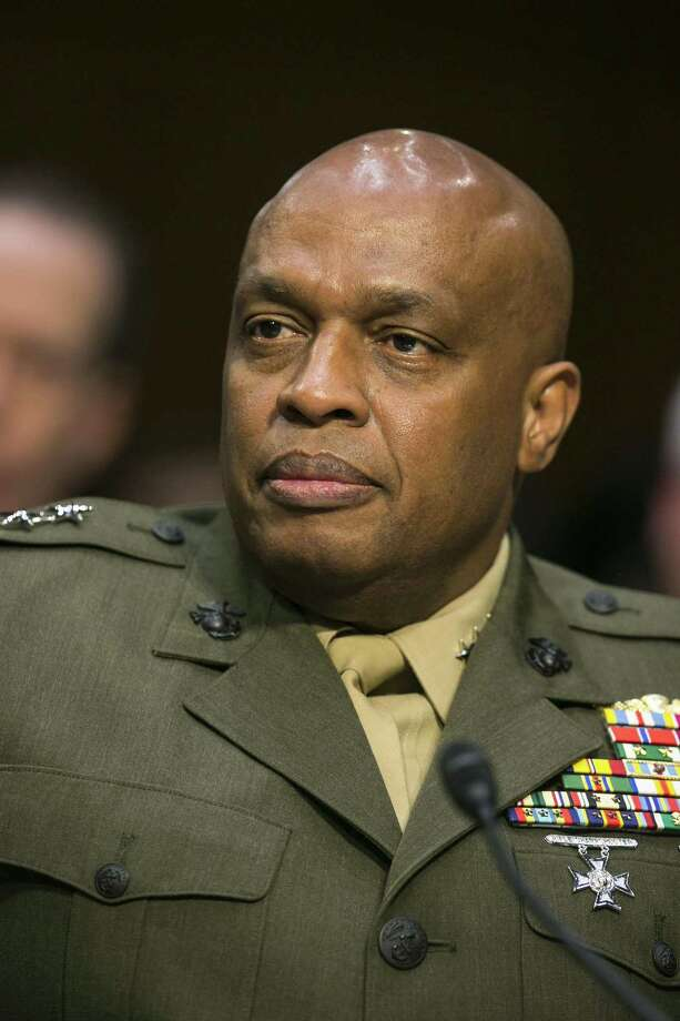 Lt. Gen. Vincent Stewart, director of the Defense Intelligence Agency, during a Senate Intelligence Committee hearing on worldwide threats in Washington, May 11, 2017. (Al Drago/The New York Times) Photo: AL DRAGO, STF / NYT / NYTNS