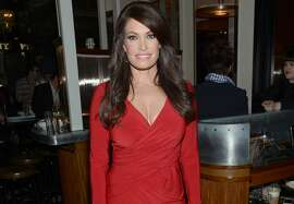 """Kimberly Guilfoyle arrives at the New York special screening of """"Fury"""" on Tuesday, Oct. 14, 2014 in New York."""