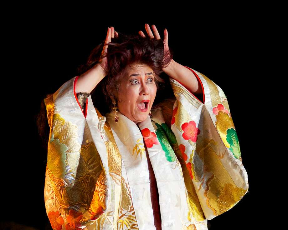 "Brenda Wong Aoki performs in ""Aunt Lily's Flower Book."" Photo: Courtesy Of First Voice"