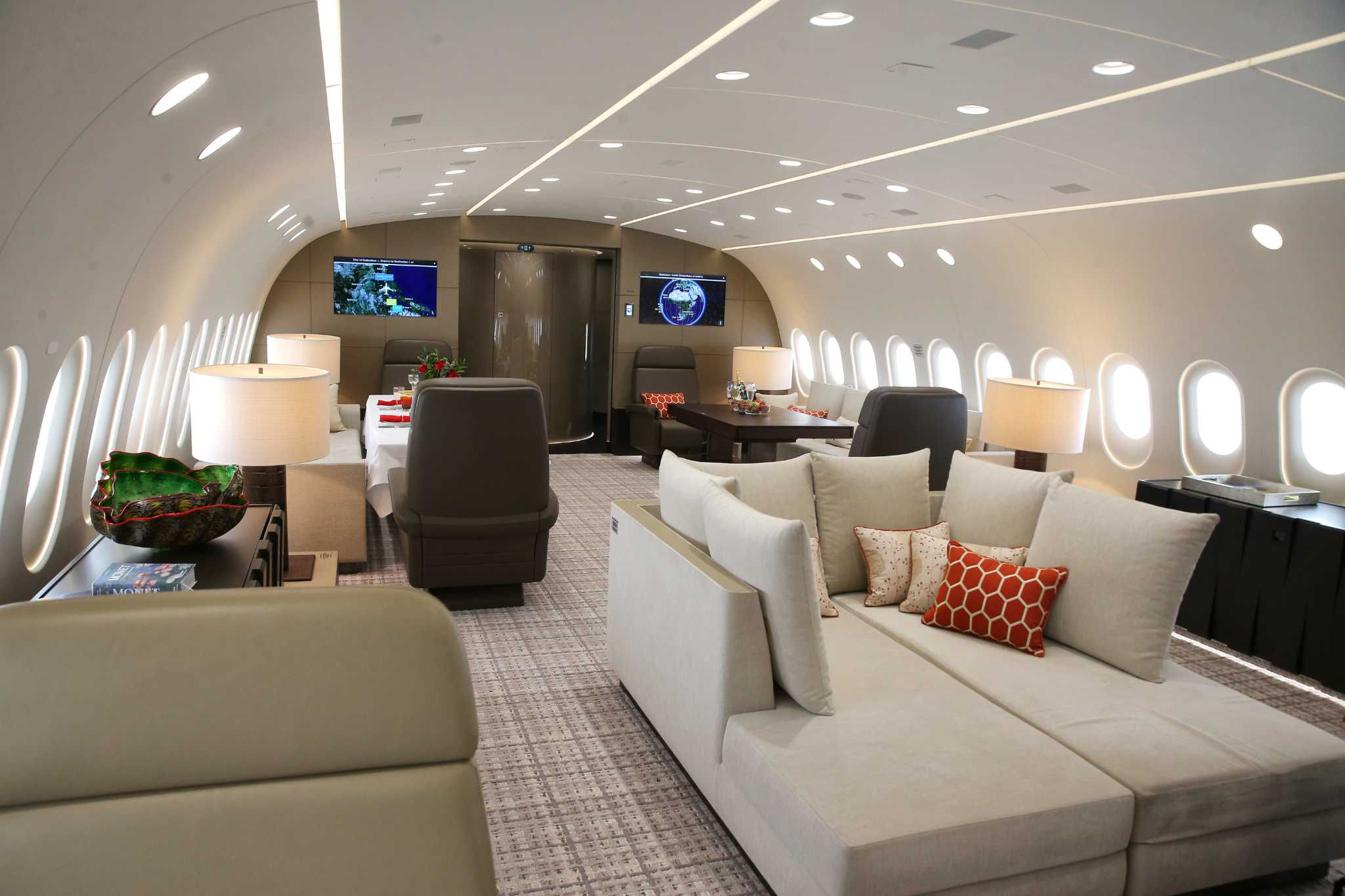 Peek inside this luxury Boeing bizliner unveiled in