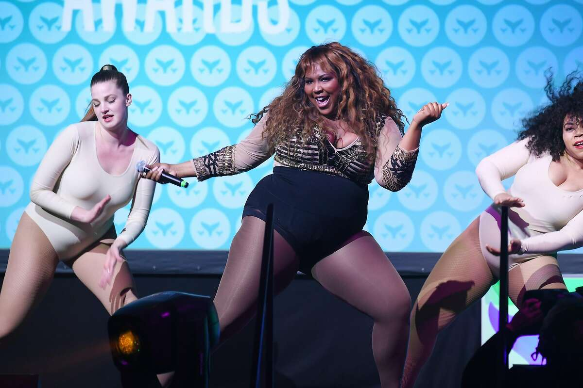 NEW YORK, NY - APRIL 23: Lizzo performs on stage at the The 9th Annual Shorty Awards on April 23, 2017 in New York City. (Photo by Dave Kotinsky/Getty Images for Shorty Awards)