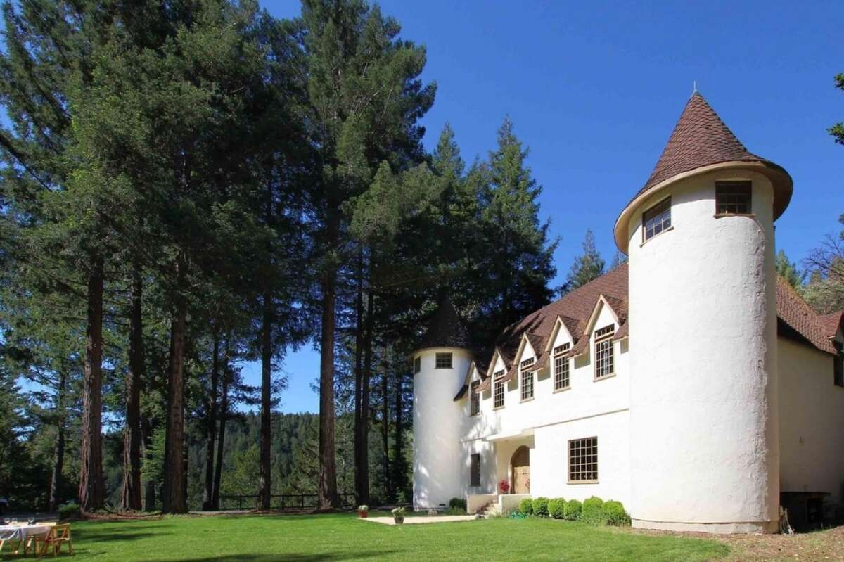 The castle may look medieval but it was actually built in 1980 on this 10-plus-acre property.
