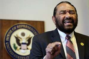 Congressman Al Green speaks to media during a press conference in which he called for the impeachment of President Donald Trump at the Houston Congressional District Office Monday, May 15, 2017, in Houston. ( Godofredo A. Vasquez / Houston Chronicle )