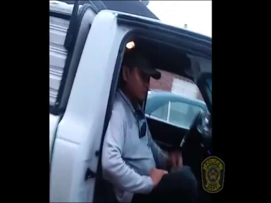 FILE - A screenshot of cell phone camera footage shows a man, known only as Marcos, in the 3000 block of Colony Crossing Drive in Sugar Land, Texas on May 3, 2017. Police say Marcos threatened and assaulted a construction contractor over a payment soon after this photo was taken. Photo: File/Sugar Land Police Department