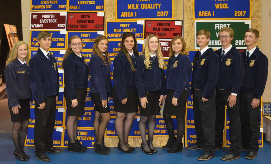 Newly-elected Plainview FFA officers for 2017-2018 include Laura Summers, chaplin; Brendan Weaver, parliamentarian;  Karlee Thomas, historian; Madi Carson, vice president; Mackenzie Winders, student advisor;  Katie Mahagan, president;  Alli Carson, secretary;  Coby Savage, sentinel;  Jake Dawson, treasurer;  and Hagen Offield, reporter.