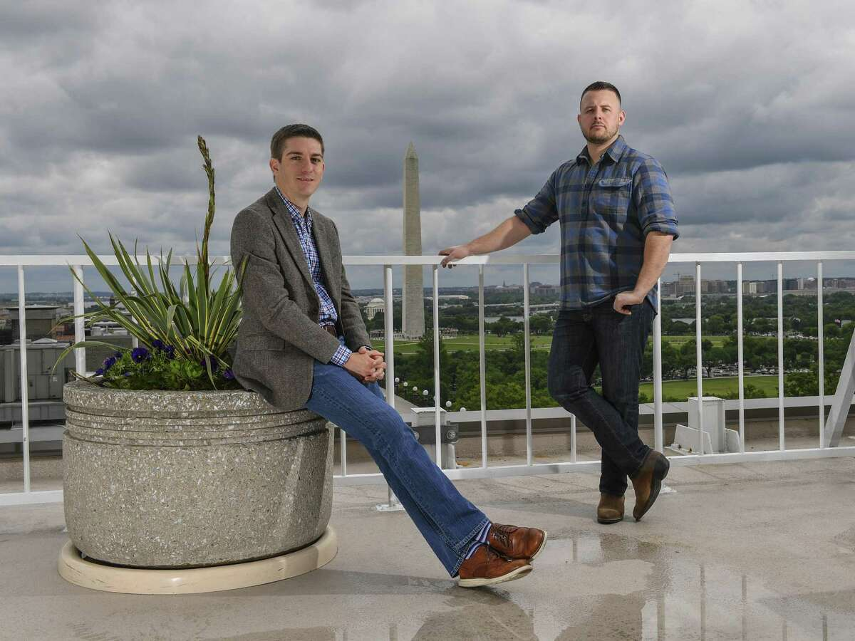 Parks Bennett (left) and Matt Oczkowski founded Campaign Inbox, the first known startup to emerge from Trump's White House run.