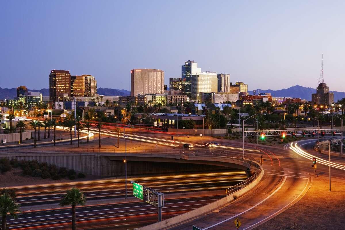 19. Phoenix, Arizona Average commute time:45.53 minutes Commute stress rank:4