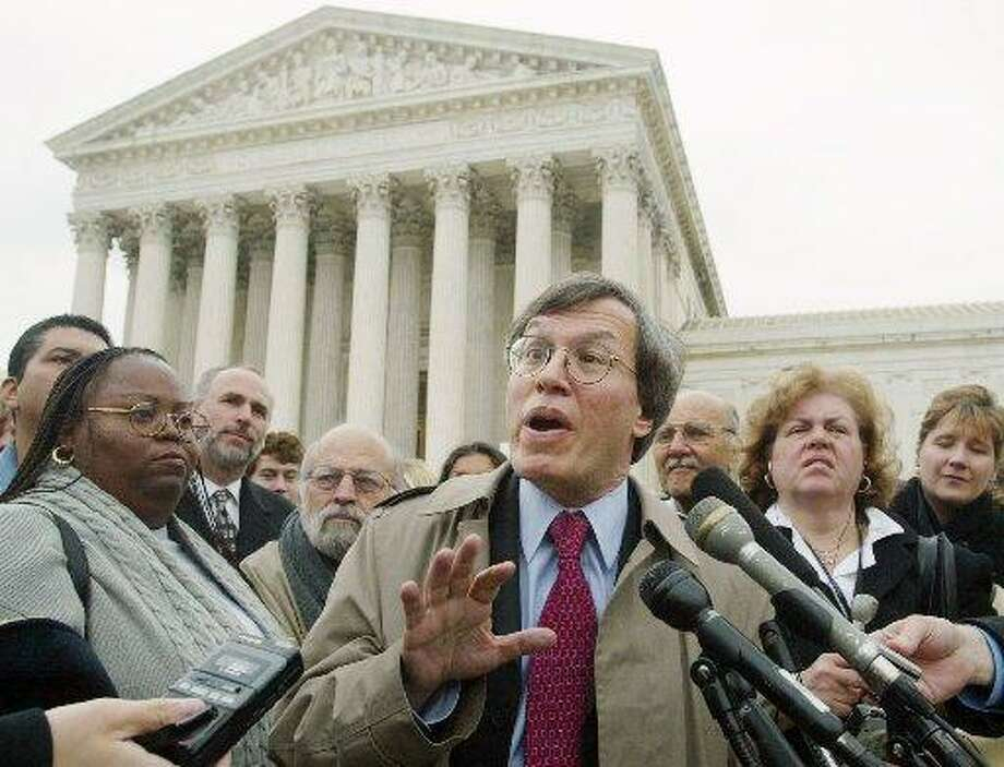Erwin Chemerinsky, speaks to the media after a hearing on California's three-strikes law outside the Supreme Court in Washington, in this Nov. 2002 file photo. Photo: AP Photo/Rick Bowmer / /