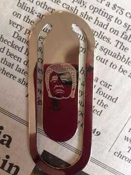 The Trump bookmark: looks like Elvis?