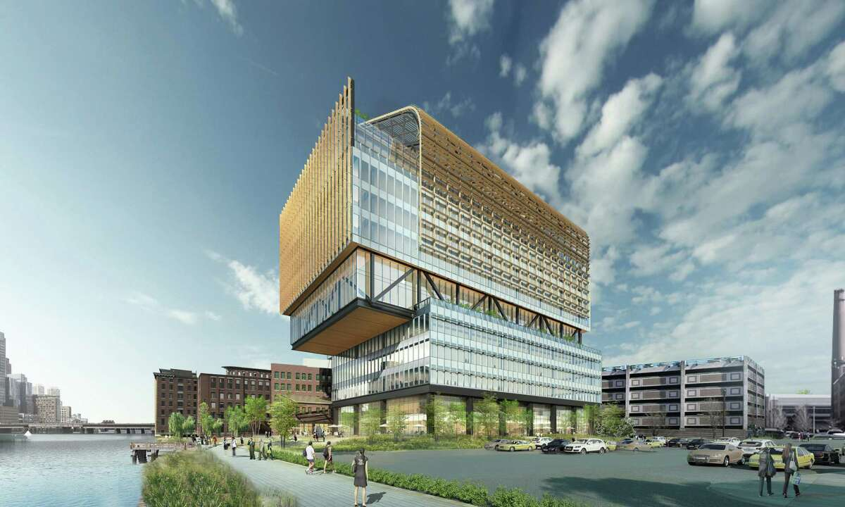A rendering of the planned new General Electric headquarters in Boston.