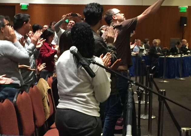 UC students protest hidden funds, shut down regents meeting