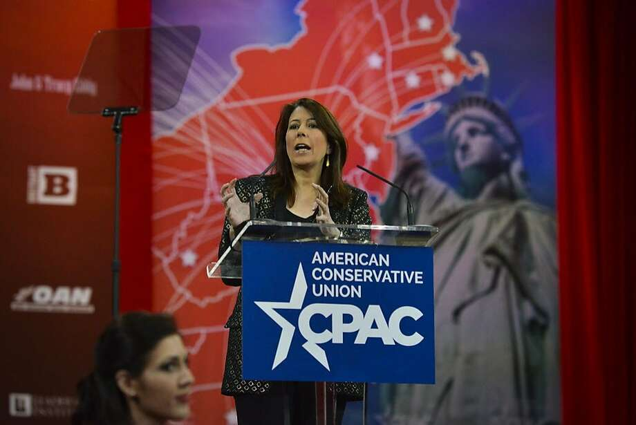 Tammy Bruce addresses the crowd during CPAC2105 (Conservative Political Action Conference) at the Nation Harbor Gaylord on Thursday, February 26, 2015, in Oxon Hill, MD. Photo: The Washington Post, The Washington Post/Getty Images