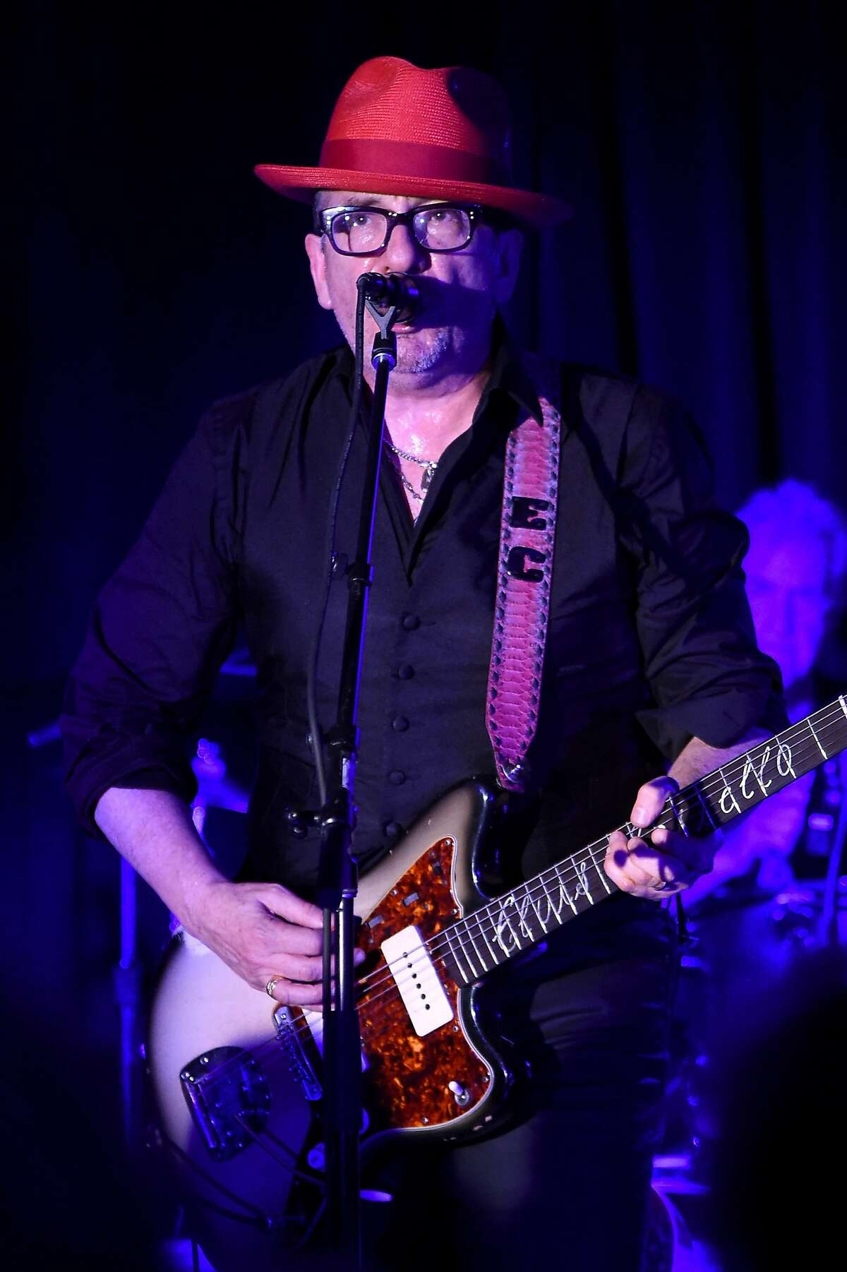 WASHINGTON, DC - APRIL 29: Elvis Costello performs at Full Frontal With Samantha Bee's Not The White House Correspondents' Dinner After Party at the W Hotel POV Rooftop on April 29, 2017 in Washington, DC. (Photo by Dimitrios Kambouris/Getty Images for TBS)