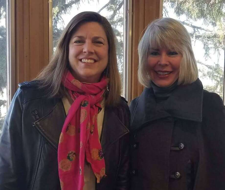 Carrie Bernier, executive director of the Community Fund of Darien, and Susan Serven, project director of the Impact Vine. Photo: Contributed Photo / New Canaan News