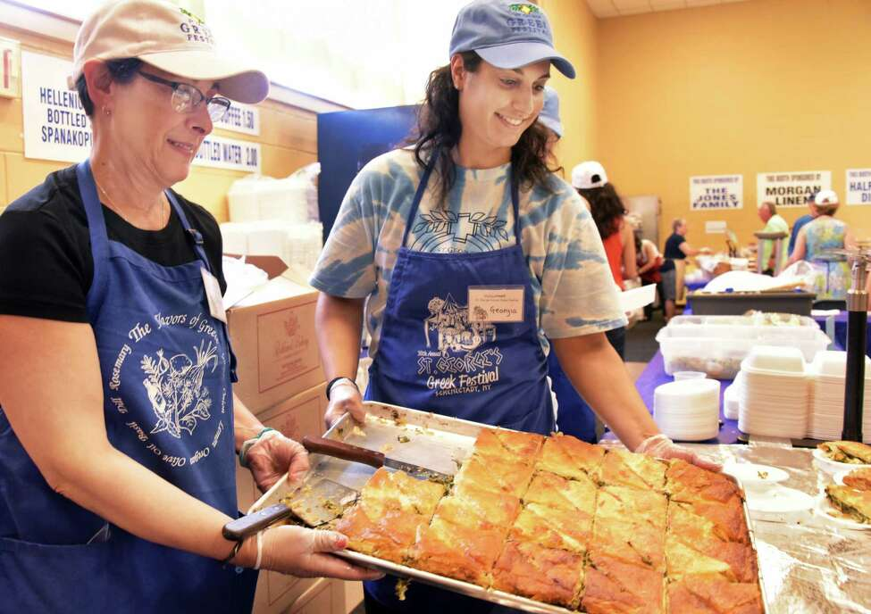 Opa! The St. George Greek Festival runs Friday through Sunday at the Hellenic Center in downtown Schenectady. Details.
