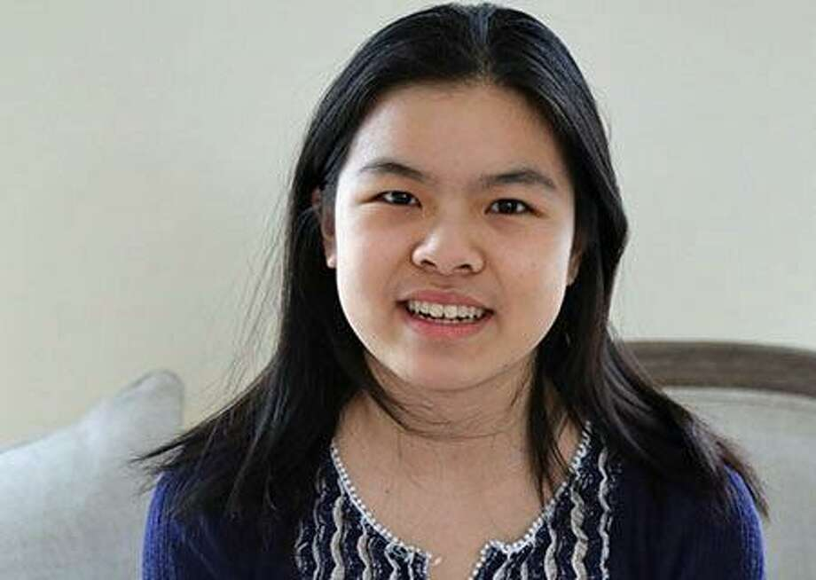 GHS junior Michelle Xiong won first place in the 2017 Connecticut Foundation for Open Government high school essay contest. Photo: Contributed