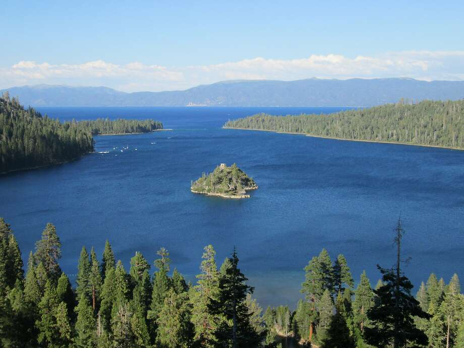 A view of Emerald Bay near South Lake Tahoe from the Highway 89 overlook. The Emerald Bay boat-in, one of the prettiest campgrounds in America, opens next Thursday. Photo: Tom Stienstra, The Chronicle