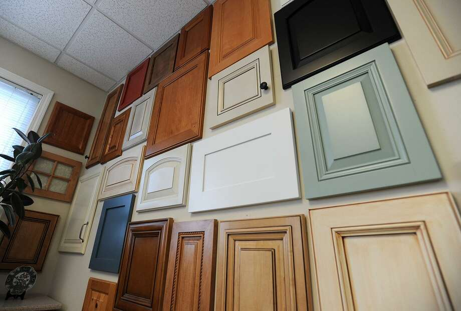 A wall of cabinet door samples at Kitchen Cabinet Resurfacing, Inc.'s showroom in Bridgeport, Conn. Photo: Brian A. Pounds / Brian A. Pounds / Connecticut Post