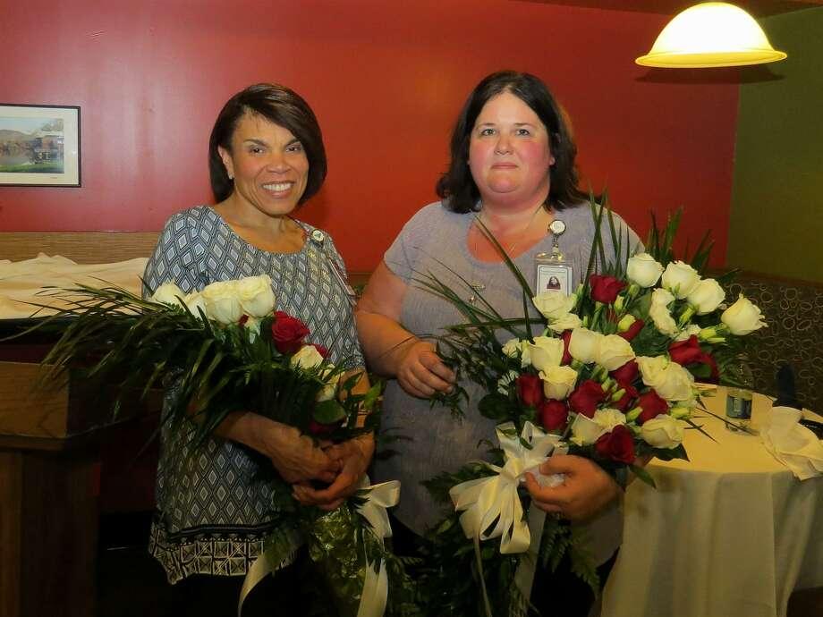 Bridgeport Hospital Co-Nurses Managers of the Year Frances Skeeter and Jennifer O'Neil. Photo courtesy of Bridgeport Hospital. Photo: Contributed / Contributed