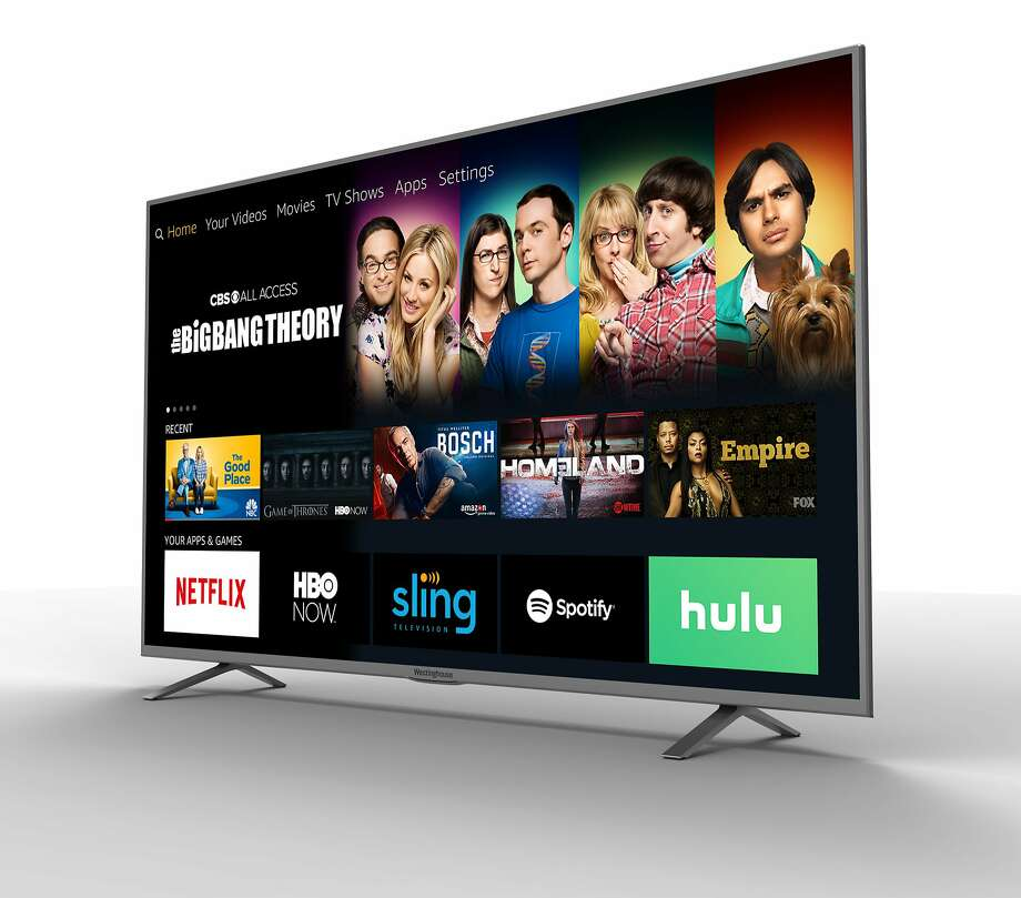 The menu on a new TV from Westinghouse displays streaming services and over-the-air channels, but not cable packages. Photo: Associated Press