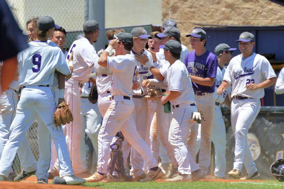 After knocking off No. 1 Lamar with an 11-0 rout in Game 3 of their area-round series, Ridge Point had plenty to celebrate. Up next is a regional quarterfinal against Cy Ranch. Photo: Craig Moseley, Staff / ©2017 Houston Chronicle