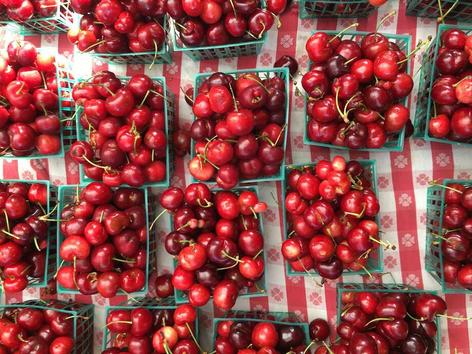 Cherry season is in full swing at Bay Area farmers' markets. Photo: Sarah Fritsche