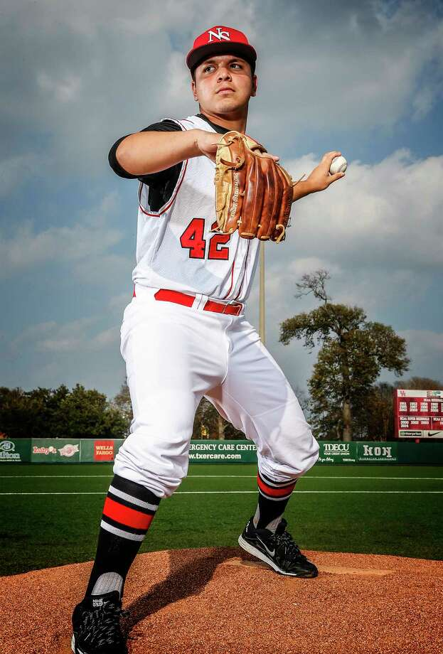 Josh Larzabal, a Rice signee, is the ace of the North Shore pitching staff. Photo: VYPE Magazine