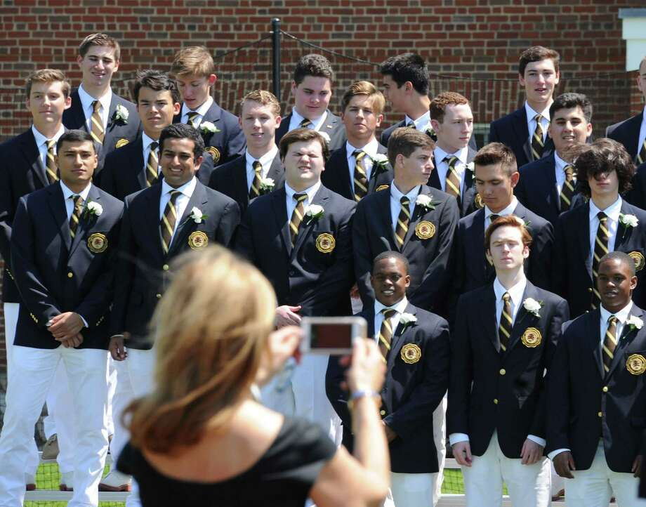 The Brunswick School commencement ceremony at the school in Greenwich, Conn., Wednesday, May 17, 2017. Photo: Bob Luckey Jr., Hearst Connecticut Media / Greenwich Time