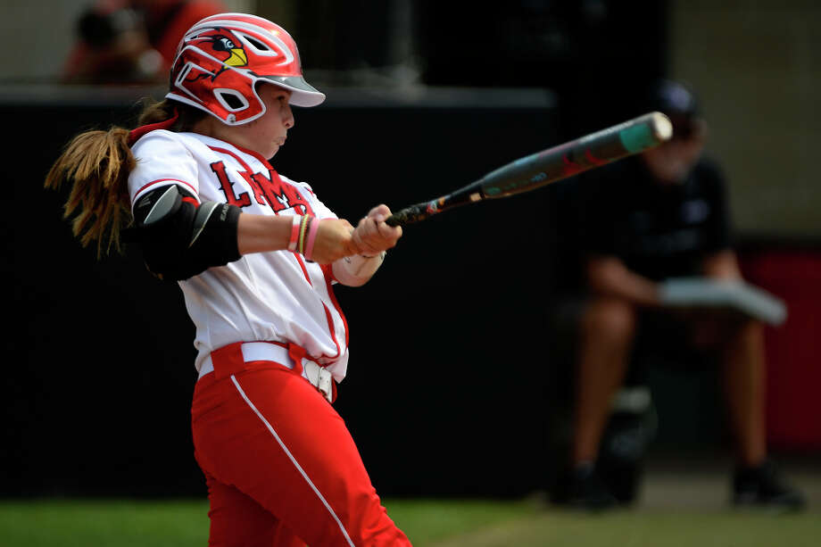 Lamar catcher Brynn Baca bats against Abilene Christian in the National Invitational Softball Championship at the Lamar softball complex on Wednesday afternoon.  Photo taken Wednesday 5/17/17 Ryan Pelham/The Enterprise Photo: Ryan Pelham / ©2017 The Beaumont Enterprise/Ryan Pelham