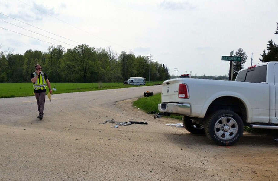 This is a photo from the scene of Wednesday's accident.  Photo: Huron County Sheriff Office Photo