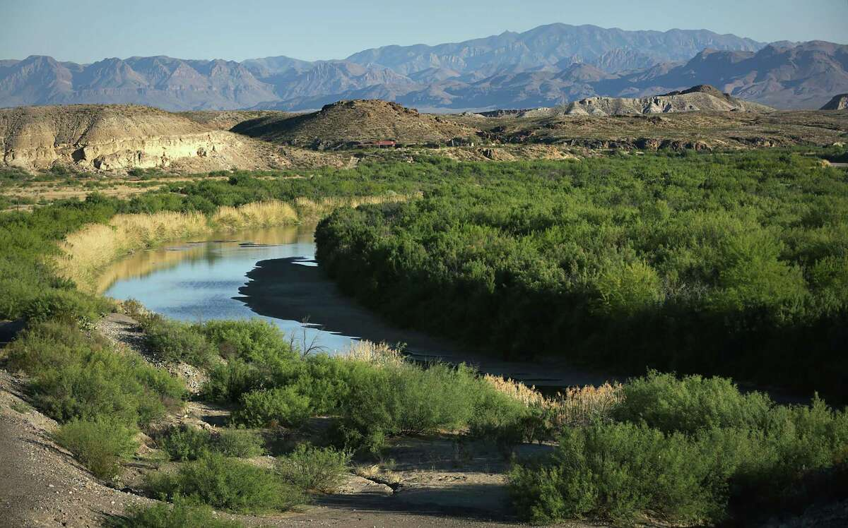 A scenic view of the Rio Grande River with Mexico on the right, near Redford, TX not far from Presidio, TX just west of Big Bend National Park. Officials said a 46-year-old woman was found dead at the park Sunday, June 18, 2017. NWS officials said the high in the Big Bend area reached 115 degrees Sunday.