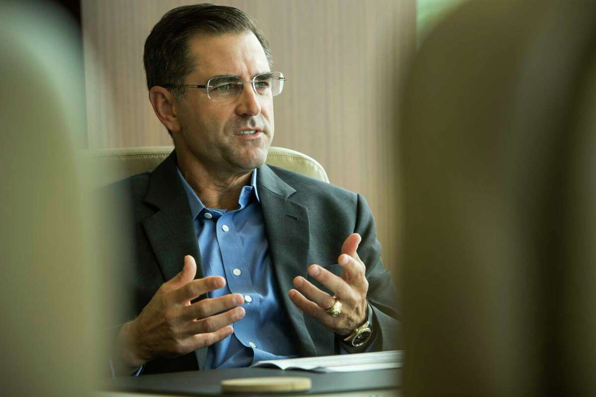 Halliburton President Jeff Miller answers questions during an interview on Friday, Aug. 26, 2016, in Houston. ( Brett Coomer / Houston Chronicle )