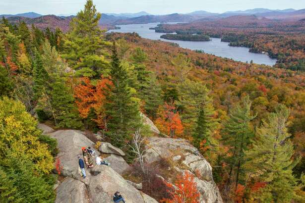 View from Bald Mountain trail on Oct. 11, 2015, near Old Forge, N.Y. (Nancie Battaglia/Special to the Times Union)