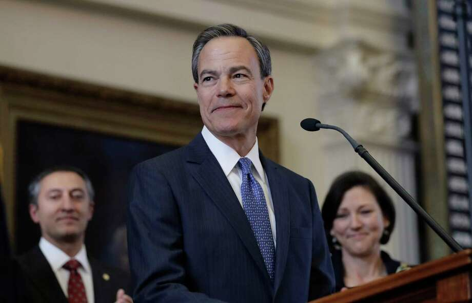 Texas Speaker of the House Joe Straus, R-San Antonio, stands before the opening of the 85th Texas Legislative session in the house chambers at the Texas State Capitol after he was re-elected for a fifth consecutive term, Tuesday, Jan. 10, 2017, in Austin, Texas. (AP Photo/Eric Gay) Photo: Eric Gay, STF / Copyright 2017 The Associated Press. All rights reserved.