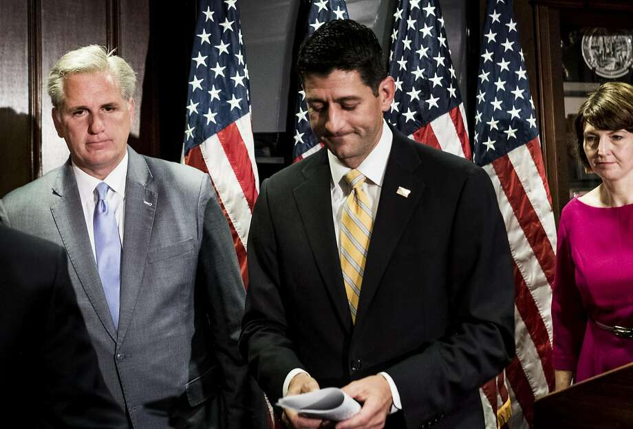 Republicans like Reps. Kevin McCarthy (left), Paul Ryan and Cathy McMorris Rodgers stand to lose the most if crisis continues. Photo: Melina Mara, The Washington Post