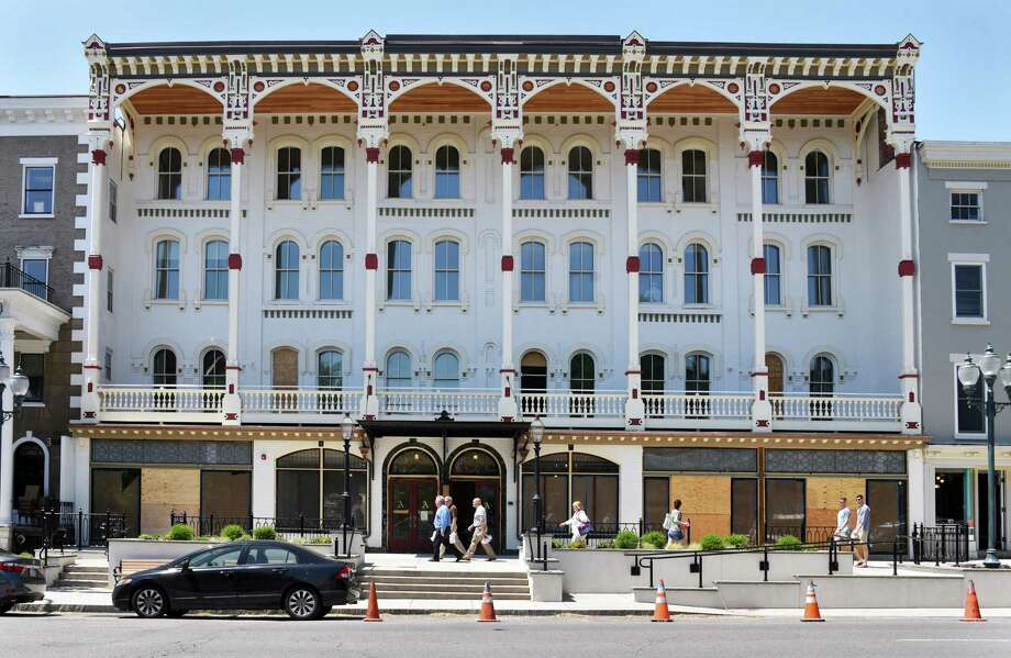Renovations of the Adelphi Hotel on Broadway continue Wednesday May 17, 2017 in Saratoga Springs, NY.  (John Carl D'Annibale / Times Union) Photo: John Carl D'Annibale / 20040508A