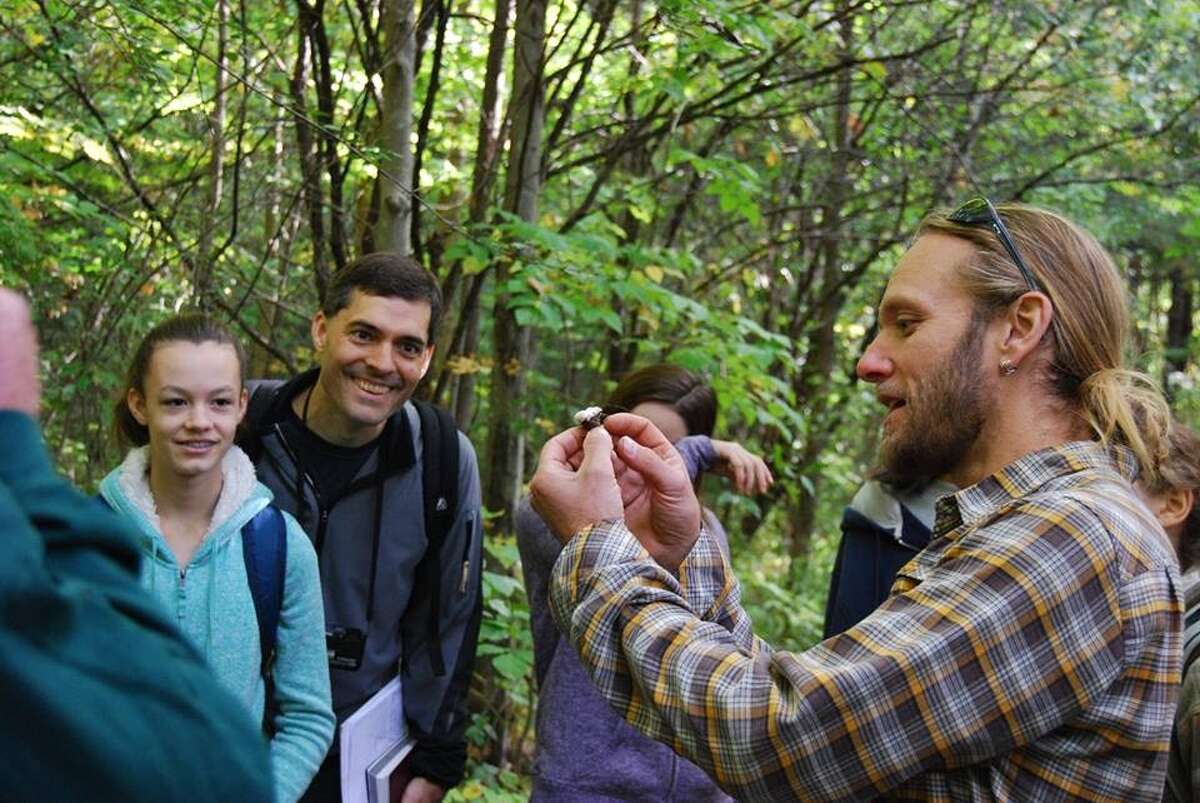 Outdoor guide David Muska teaches a mushroom class for the Mohawk Hudson Land Conservancy. (Photo courtesy Mohawk Hudson Land Conservancy) ORG XMIT: KvQSaR7lrZflzFJAd5pW