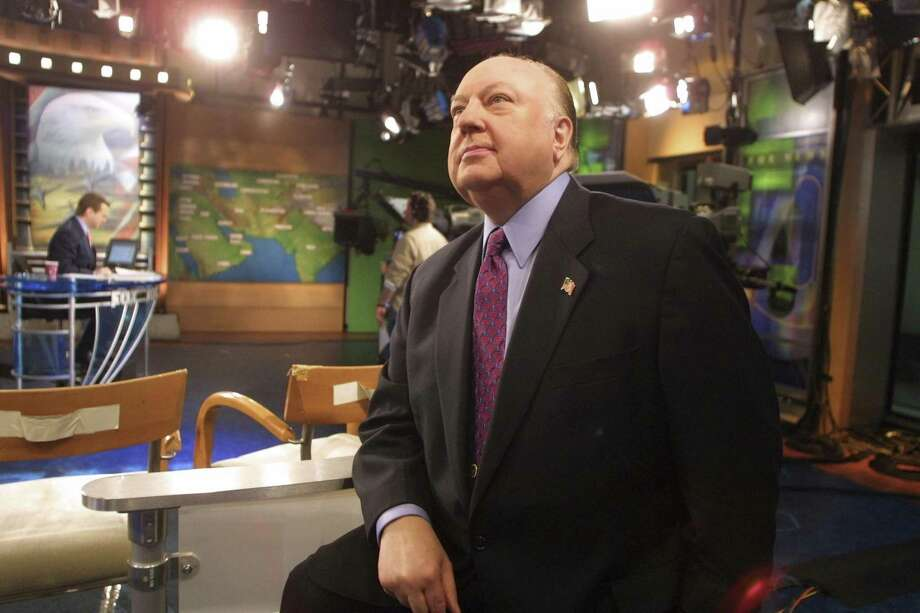 Roger Ailes, the co-founder of Fox News, during a broadcast from the networks studios in New York, Jan. 11, 2002. Ailes, 77, who built the network into a conservative empire and became a kingmaker for the Republican Party before being pushed out last summer, died on Thursday. Photo: Angel Franco /New York Times / NYTNS